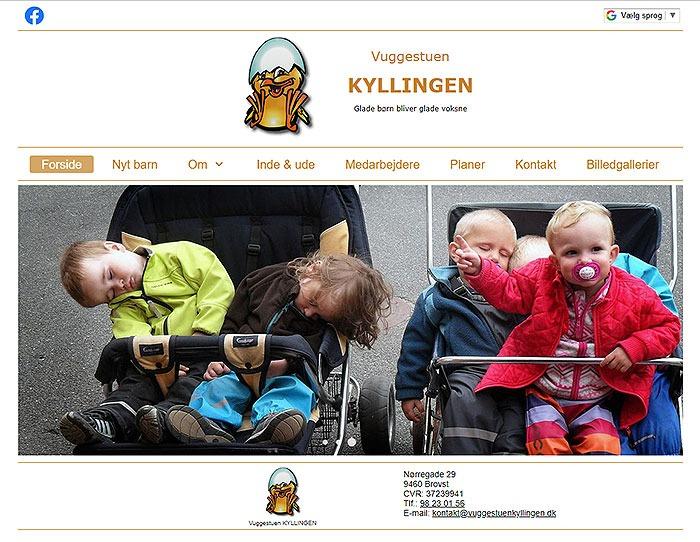 Screendump af www.vuggestuenkyllingen.dk