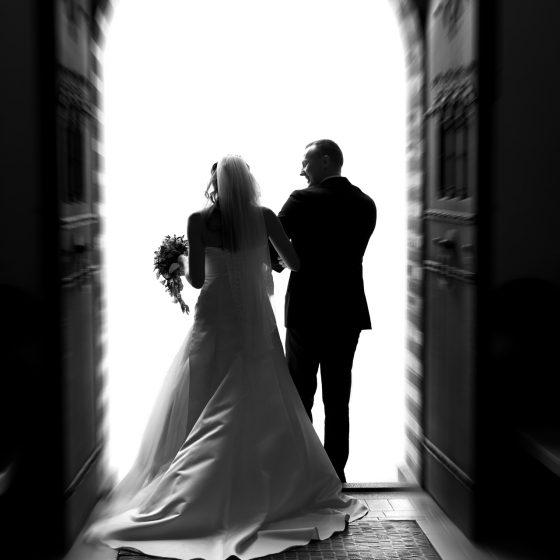 Bryllupsbillede fotograferet af Brian Bjeldbak