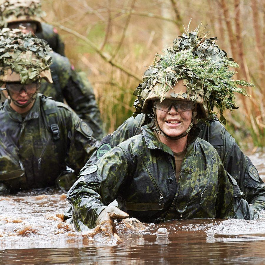 militærfoto soldater på øvelse
