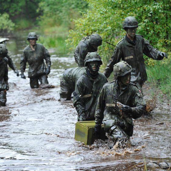 militærfoto VPL soldater på øvelse