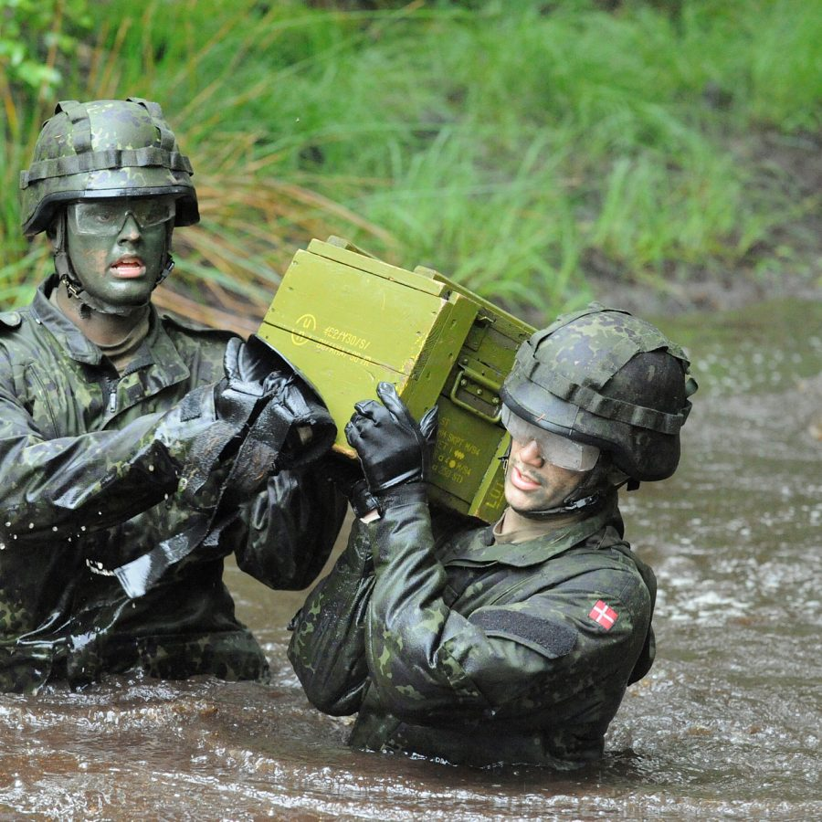 milifoto soldater på øvelse