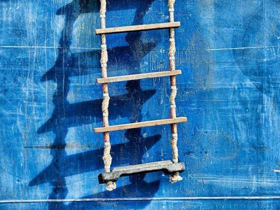 kreativt foto-kursus fotokursus online hagland borg plakat med rebstige