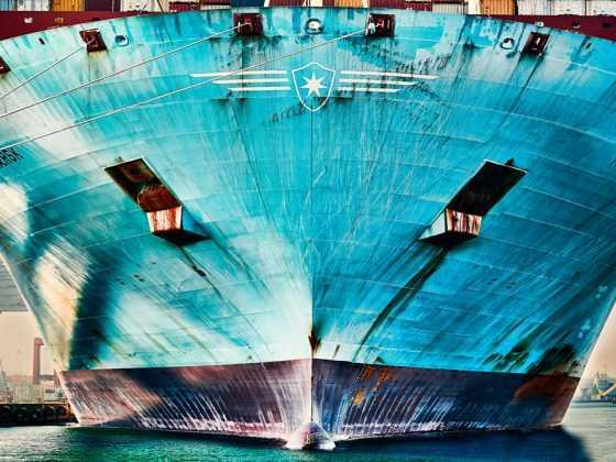 plakat med containerskib marie mærsk