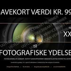 foto fotograf kursus gavekort