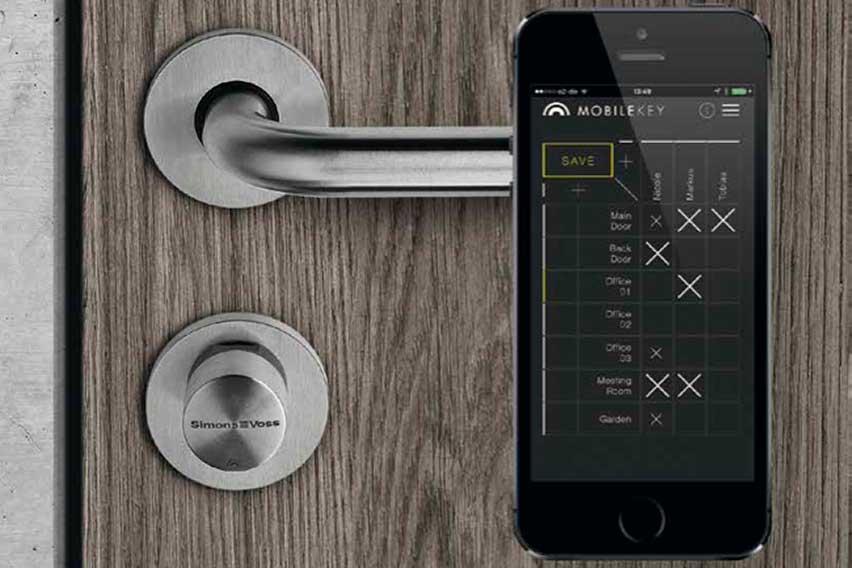 Simon Voss Mobilekey - Elektronisk låsesystem fra Brica Sikring