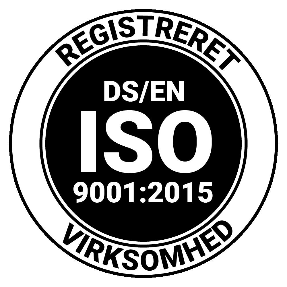 Brica Sikring er ISO 9001:2015 certificeret