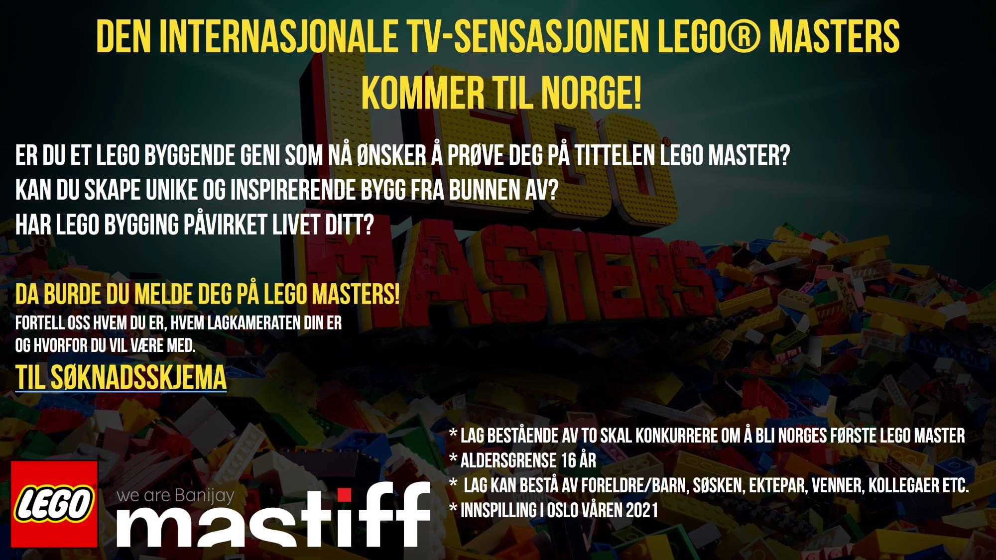LEGO Masters til Norge