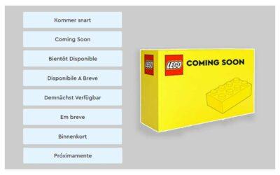 LEGO sett som kommer snart, hvordan finne de?