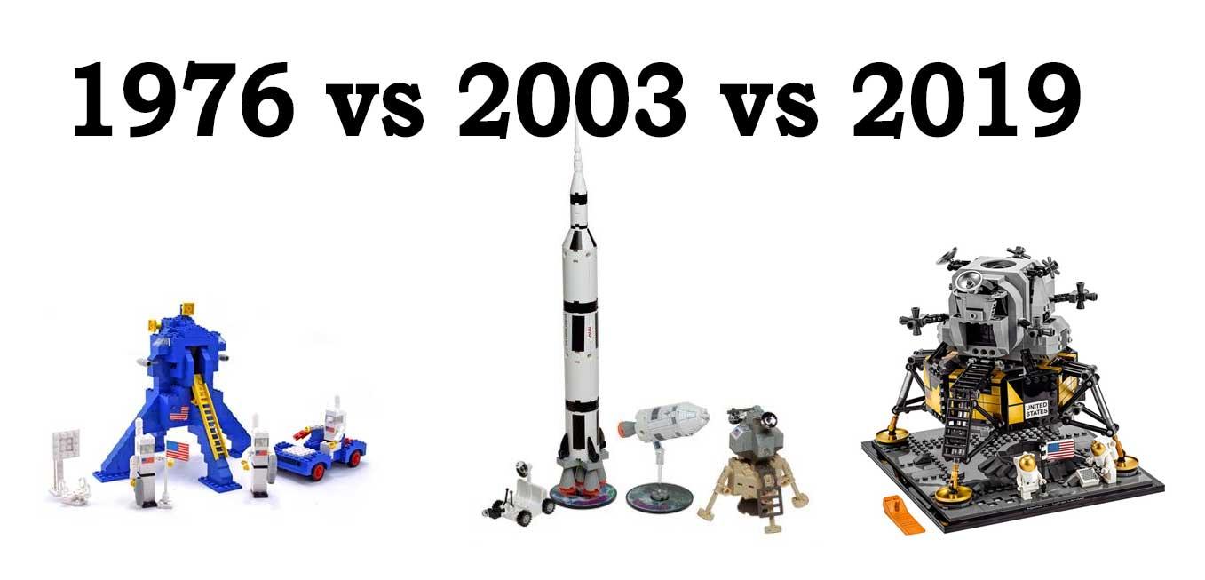 Space 1976 vs 2003 vs 2019