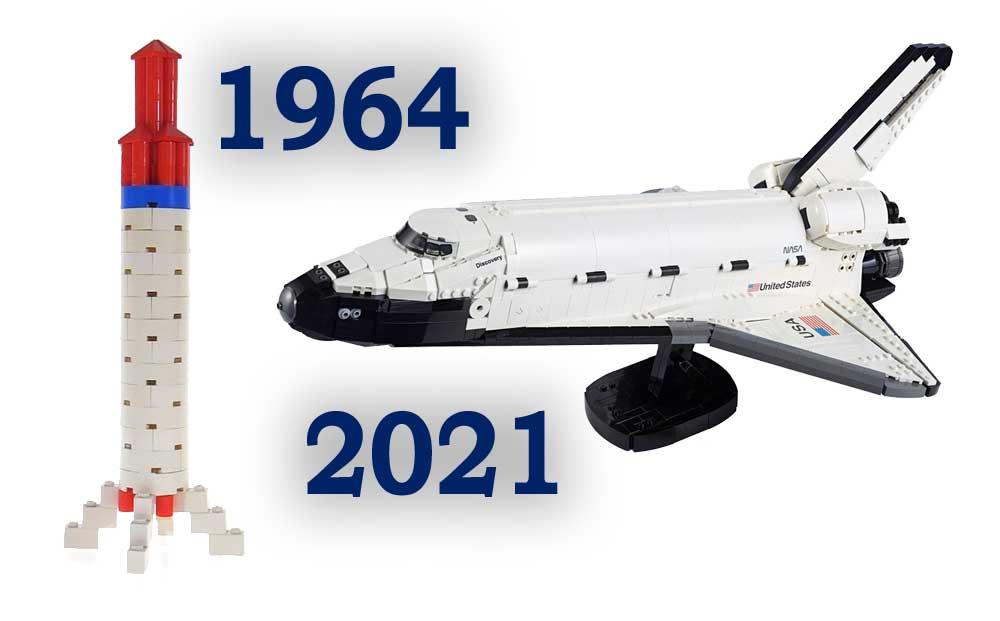 Space sett før og nå