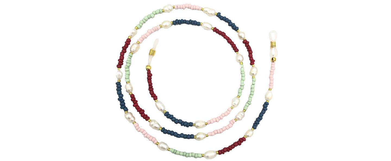 Boho Beach Sunny Necklace – Beaded Pearl Sunny Necklace Pastel Tones | 7446023677660