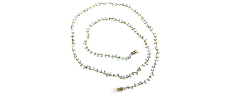 Boho Beach Sunny Necklace – Colourful Stones Green Chain | 7446023678612