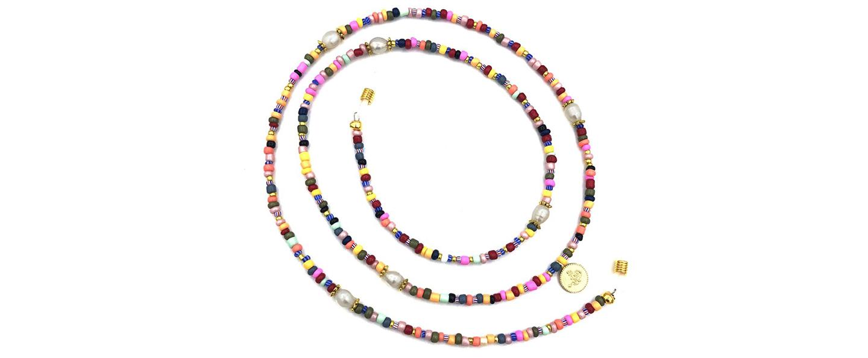 Boho Beach Sunny Necklace – Rainbow Sunny Necklace Pearls | 7446023677653