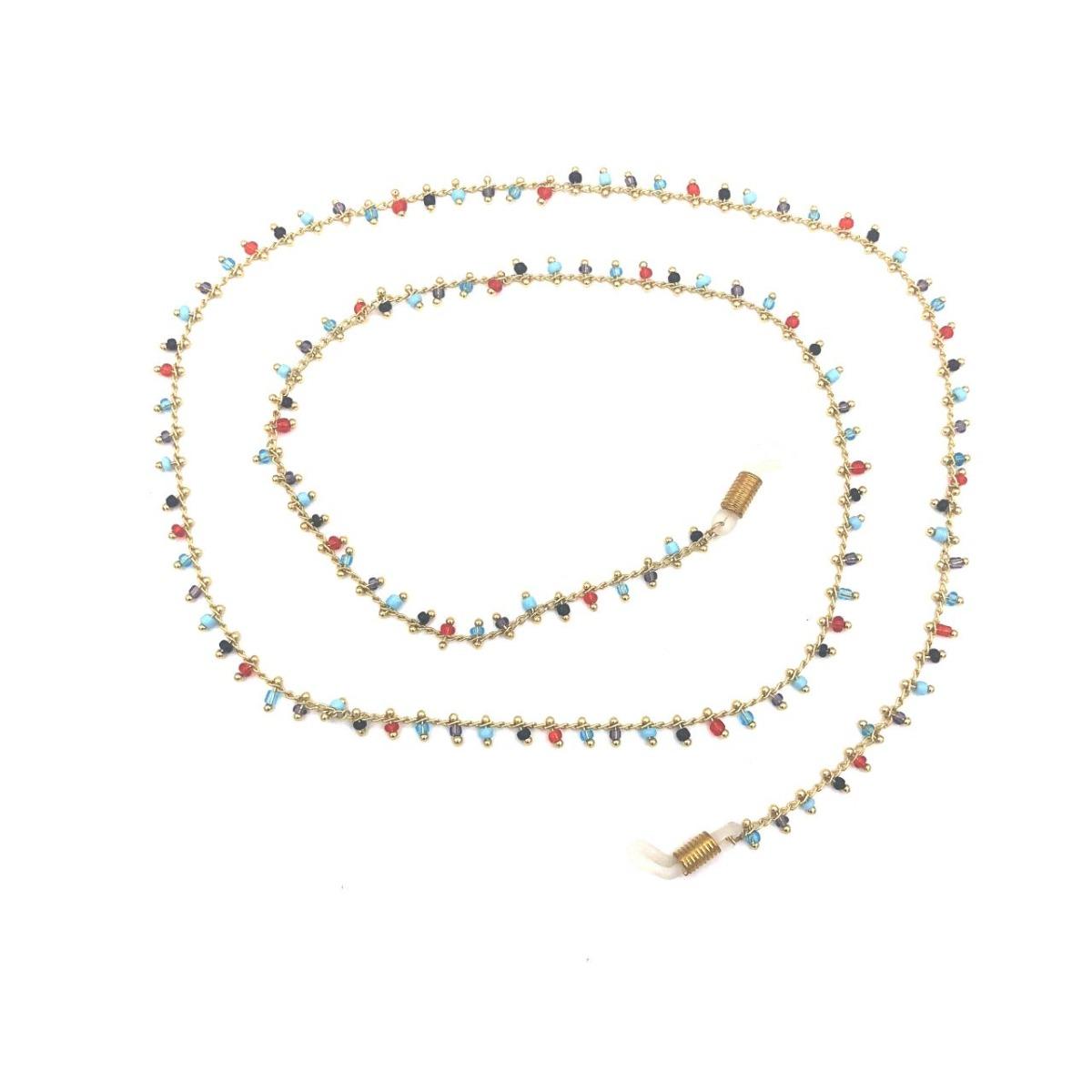 Boho Beach Sunny Necklace – Colourful Stones Mix Chain | 7446023678629