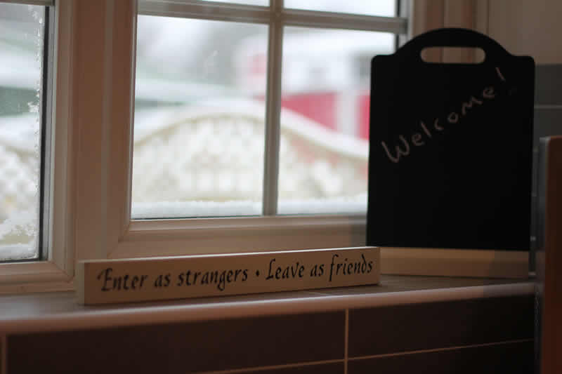 enter as strangers