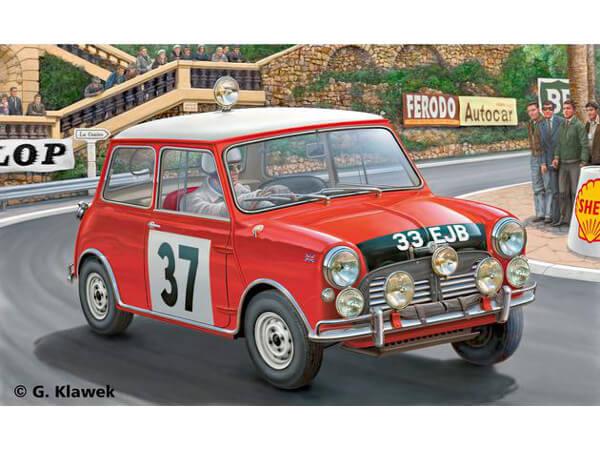 REV07064 Mini Cooper Winner Rally Monte Plastic Kit