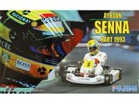 FUJ091389 Ayrton Senna Kart 1993 Plastic Kit