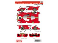 "STU27DC1123 Ferrari 512S  ""Gelo racing team"" #4 #6#10  1970 Waterslide decal Decal"