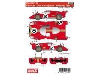 """STU27DC1123 Ferrari 512S  """"Gelo racing team"""" #4 #6#10  1970 Waterslide decal Decal"""