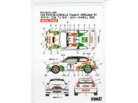 "STU27DC115 Toyota Corolla WRC  ""Castrol""  1000 lakes 1997 Waterslide decal Decal"