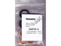 24SP18-11 4 rims Speedline 11 spokes + 4 treated tyres  18 inch Resin Accessoires