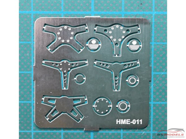 HME011 Steering wheel set 1 Etched metal Accessoires