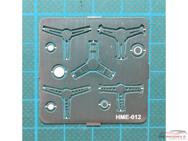 HME012 Steering wheel set 2 Etched metal Accessoires