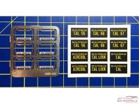 HME022 License plate frames + plates set 1 Etched metal Accessoires