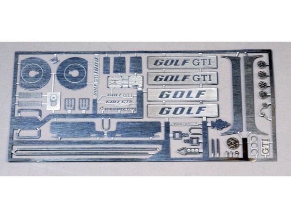 TK24-410 VW Golf GTI  MK1 detail set for Revell kit Etched metal Accessoires