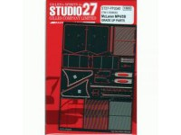 STU27FP2040 Mclaren MP4/5B photoetched parts (For Tamiya) Etched metal Accessoires