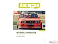 DCLDEC004 BMW M3 E30  Linder Motorsport Jagermeister  DTM 1992 Waterslide decal Decal