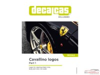 DCLLOG001 Cavallino logos - part 1 Waterslide decal Decal