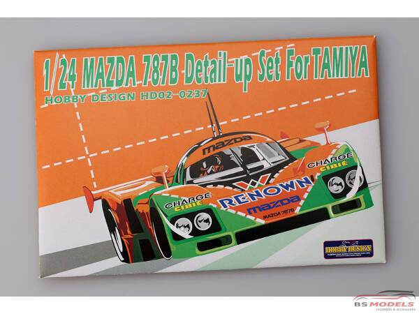 HD020237 Mazda 787B  PE + metal parts + resin (for Tamiya) Multimedia Accessoires