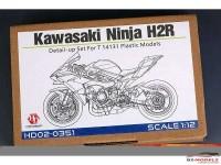 HD02351 Kawasaki Ninja H2R detail up set for TAM14131 Multimedia Accessoires
