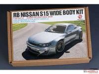 HD03498 RB Nissan S15 Wide body kit for AOS S15 Multimedia Transkit