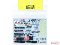 TABU20132 Mclaren MP4/8 Full sponsor Waterslide decal Decal