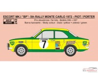 "REJI243 Ford Escort MK.I  ""BP"" Monte Carlo 1972 - #26 Piot/Porter Waterslide decal Decal"