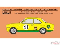 REJI254 Ford Escort MK.I - Coupe de Spa 1971 - #41 Yvette Fontaine Waterslide decal Decal