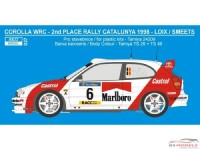 REJI27 Toyota Corolla WRC - Catalunya / Ypres '98 - F. Loix Waterslide decal Decal
