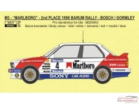 REJI272 BMW M3 - Barum Rally 1990 - Marlboro - J.Bosch/K.Gormley Waterslide decal Decal