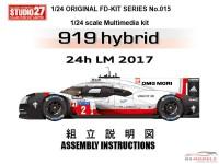 STU27FD24015 Porsche 919 LM 2017 winner Multimedia Kit