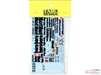TABU20131D Mclaren MP4/7  Full sponsor decal Waterslide decal Decal