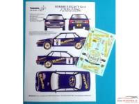 TK24440 Subaru Legacy GrA Colin Mc Rae   Tour de Corse 1993 Waterslide decal Decal