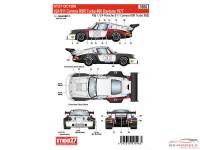 STU27DC1206 Porsche 911 RSR Turbo Daytona 1977 #00 Waterslide decal Decal