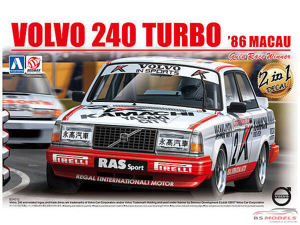 BEE24012 Volvo 240 Turbo Macau GP Guia winner 1986 Plastic Kit