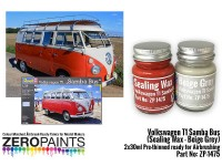 ZP1475 Volkswagen T1 Samba Bus (sealing wax - beige grey) set 2 x 30 ml Paint Material