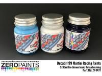 ZP1477 Ducati 1199 Martini Racing Paints  set 3 x 30 ml Paint Material