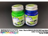 ZP1490 BMW M3 E30 - DTM 1988 Team Alpina Green/Blue set 2 x 30 ml Paint Material