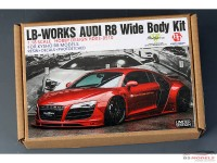 HD030510 LB-Works Audi R8 wide body transkit for  Kyosho R8 1/18 Multimedia Transkit