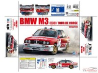 BEE24016 BMW M3 (E30) Tour de Corse 1989  Chatriot/Perin  4th Plastic Kit